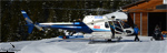 L'AS 350 B2 MBH de reour de mission de secours