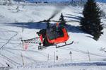 Alouette II SA318 C F-GPKC au décollage d'Avoriaz