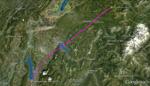 Carte du vol entre Chambéry et Avoriaz