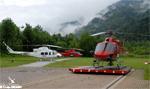 Base Heli-Austria à St. Johann Im Pongau, 2 BELL 412 pour le travail aérien et un AS355 F1 pour les secours