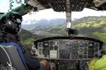 En vol a bord du BELL 412 OE-XYY pour le Tirol