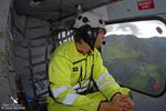 Notre assistant de vol Joseph en vol avec le BELL 412