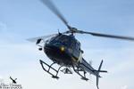 Ecureuil AS350 B3 HDF F-GUSE de retour du chantier