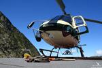 Ecureuil AS350 B3 plus Heli Béarn posé sur DZ de la conduite centrale EDF Orlu 09