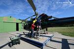 Visite de la turbine avant le départ pour la mission