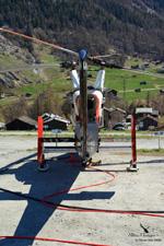 K-MAX HB-KIH Rotex company in Evolène - Valais - Switzerland. Heli-logging operation