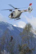 Treuillage avec un EC135 du SAF