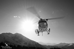 Retour de l'AS350 B2 F-GKBE à la base
