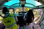 Pascal Brun et Jerome AS350 B3e F-HESB transport de personel