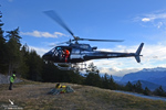 Guidage pour le posé de l'écureuil HB-ZES Eagle helicopter Valais