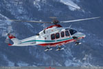 AB 139 I-ASAR de retour sur la base d'Aosta