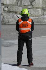 Secouriste italien en sérusation sur la DZ de Courmayeur (AO)