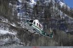 BELL 412 en final sur la DZ de secours