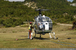 LAMA Air green I-ETIA au kéro rotor tournant