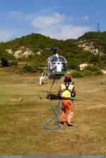 LAMA SA 315B Air green au décollage pour de nouvelle rotation