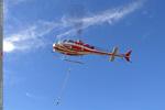 AS 350 B3 - Levage aérien . Vu sur le sling