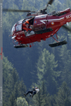 Alouette III treuillage Massif Mont Blanc