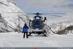 L'EC 145 F-MJBK accompagne les Super Puma