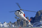 AS 355N SAF Helicopteres, retour mission de secours