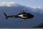 Ecureuil Eagle Helicopter qui arrive au petit matin