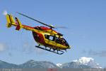 Décollage de Dragon 73 EC145 sécurité civile de Courchevel