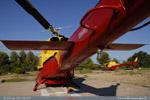 Hélicoptères HBE en attente d'un départ de feux