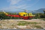Bell 212 LX-HML (morane 66) posé à Sophia Antipolis