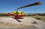 Les deux Bell 212 Morane 66 et 67