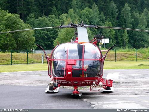 Alouette lll SA316B sécurité civil base Chamonix mont-blanc