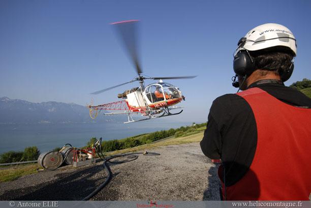 Retour de l'hélicoptère