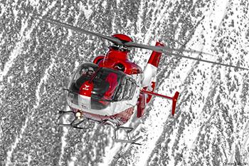 Hélicoptère secours en montagne SAF