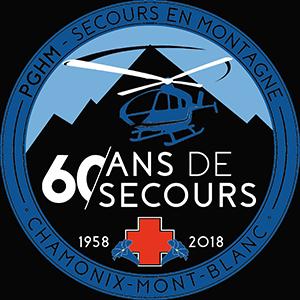 Logo secours en montagne 60 ans de secours